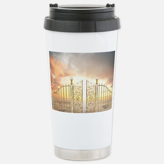 Pearly Gates - wide Stainless Steel Travel Mug