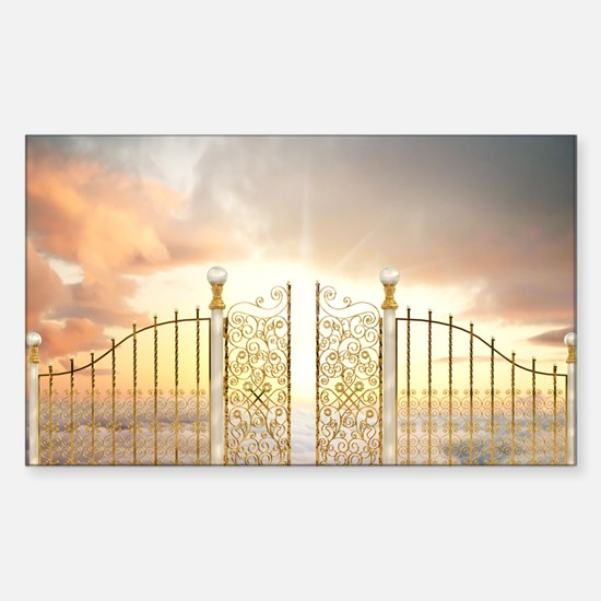 Pearly Gates - wide Sticker (Rectangle)