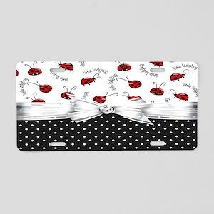 Little Ladybugs Aluminum License Plate