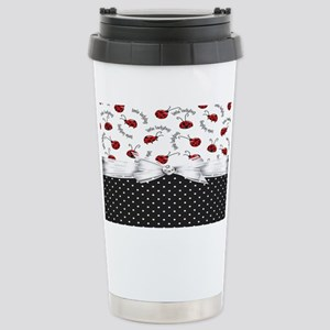 Little Ladybugs Stainless Steel Travel Mug