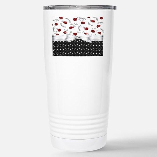 Little Ladybugs Stainless Steel Travel Mug