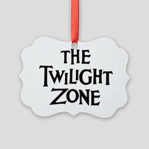 Twilight Zone Logo Picture Ornament