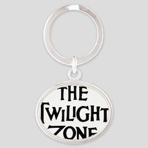 Twilight Zone Logo Oval Keychain