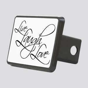 Live, Laugh, Love Rectangular Hitch Cover