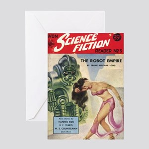 Avon Science Fiction Reader No 3 Greeting Card