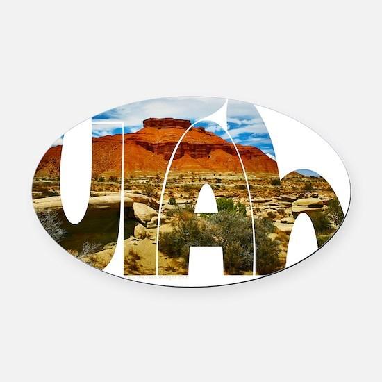 Utah desert logo Oval Car Magnet