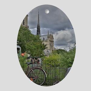Notre Dame De Paris Oval Ornament