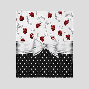 Little Ladybugs Throw Blanket
