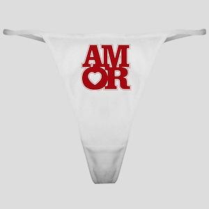 AMOR logo Classic Thong
