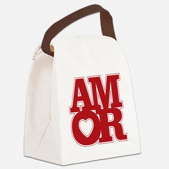 AMOR logo Canvas Lunch Bag
