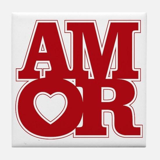 AMOR logo Tile Coaster