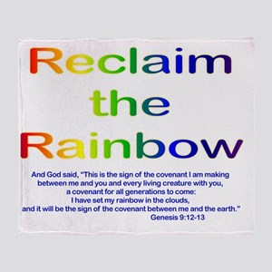 Reclaim the Rainbow Throw Blanket