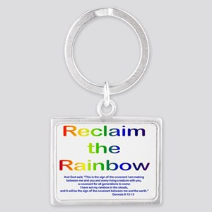 Reclaim the Rainbow Landscape Keychain