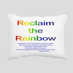Reclaim the Rainbow Rectangular Canvas Pillow