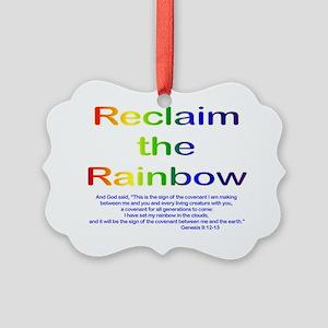 Reclaim the Rainbow Picture Ornament