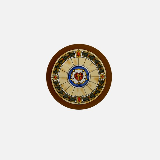 luther rose window round ornamentc.png Mini Button