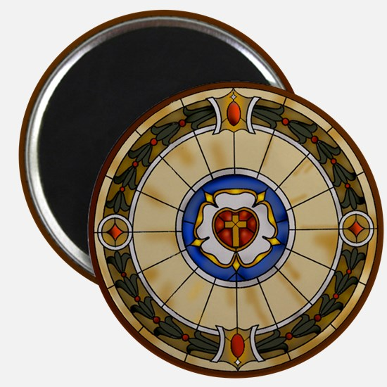luther rose window round ornamentc.png Magnets