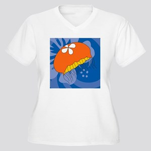 Jellyfish Cloth N Women's Plus Size V-Neck T-Shirt