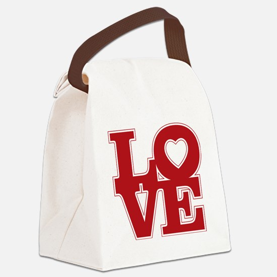 LOVE logo Canvas Lunch Bag