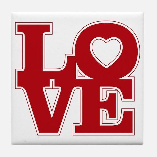 LOVE logo Tile Coaster