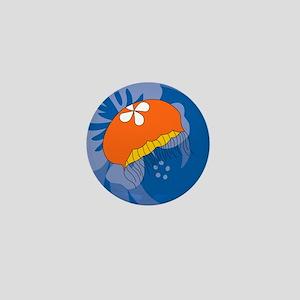 Jellyfish Oval Keychain Mini Button