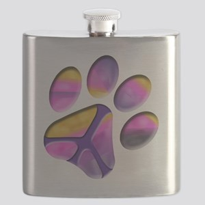 Peaceful Paw Print Flask
