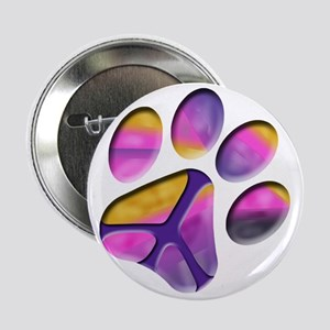 """Peaceful Paw Print 2.25"""" Button"""