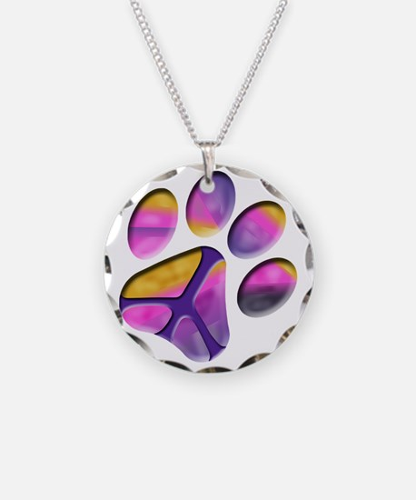 Peaceful Paw Print Necklace