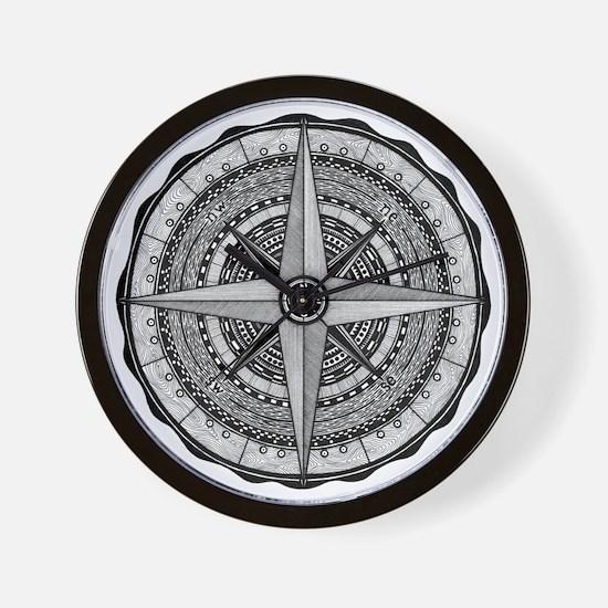 Compass Rose 2 Wall Clock