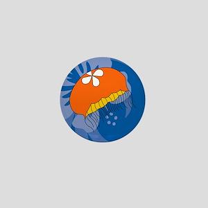 Jellyfish Landscape Keychain Mini Button