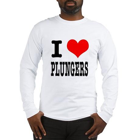 I Heart (Love) Plungers Long Sleeve T-Shirt
