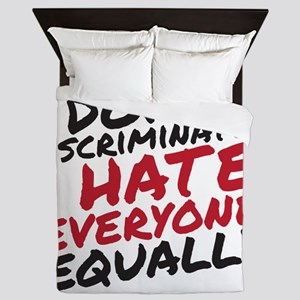 Hate Everyone Queen Duvet