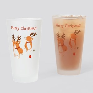 Corgi Christmas Drinking Glass