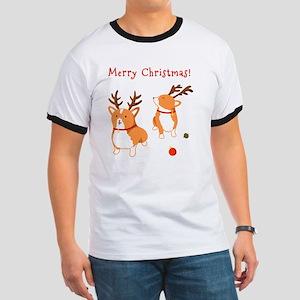 Corgi Christmas Ringer T