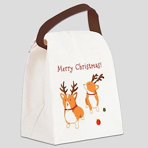 Corgi Christmas Canvas Lunch Bag