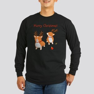 Corgi Christmas Long Sleeve Dark T-Shirt