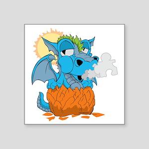 "Autism Baby Dragon Square Sticker 3"" x 3"""