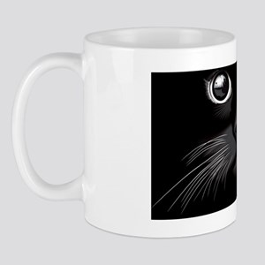 When the cat stares out at the world... Mug