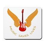 Music Save Lives - Guitar Wings Y Mousepad