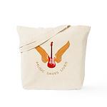Music Save Lives - Guitar Wings Y Tote Bag