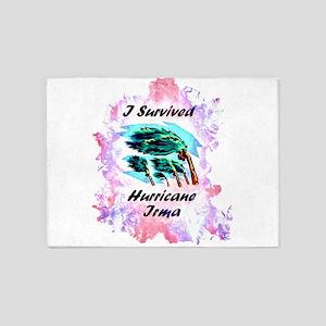 I Survived Hurricane Irma 5'x7'Area Rug