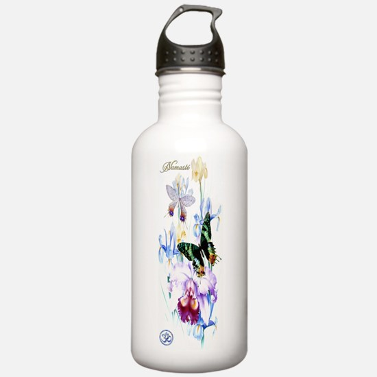 Yoga-W BG OM Namaste G Water Bottle