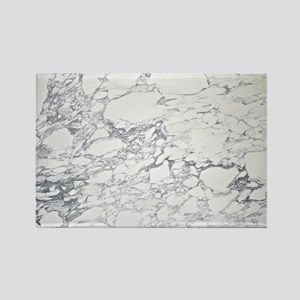 White Marble Rectangle Magnet