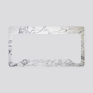 White Marble License Plate Holder