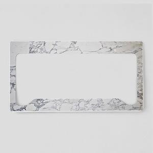 White Marble License Plate Holder