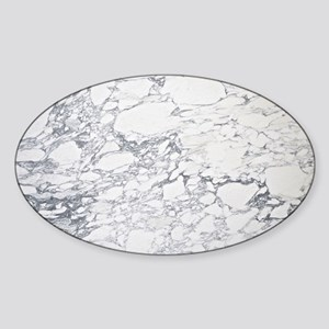 White Marble Sticker (Oval)