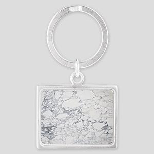 White Marble Landscape Keychain