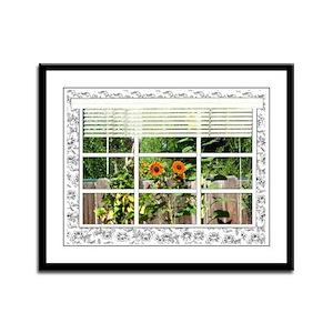 Garden View Framed Panel Print