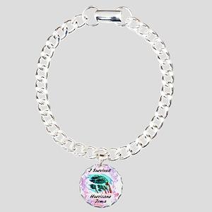 I Survived Hurricane Irm Charm Bracelet, One Charm