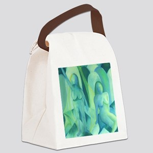 Reflections in Blue III - Teal Cy Canvas Lunch Bag